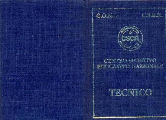 Tesserino Tecnico JKD e F.M.Arts CSEN