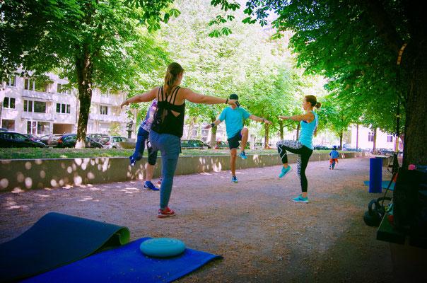 Balance für die Core-Muskulatur