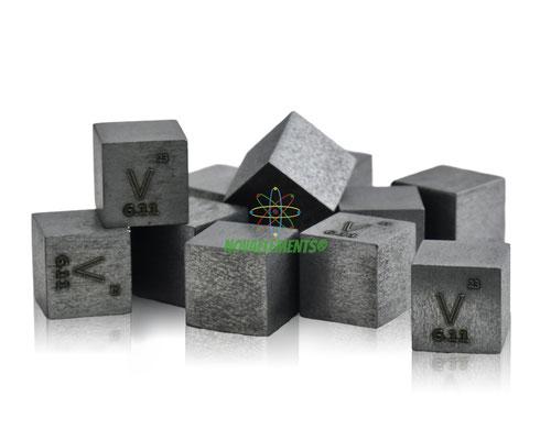 vanadium density cube, vanadium metal cube, vanadium metal, nova elements vanadium, vanadium metal, nova elements vanadium