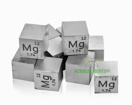 magnesium density cube, magnesium metal cube, magnesium metal, nova elements magnesium, magnesium metal for element collection