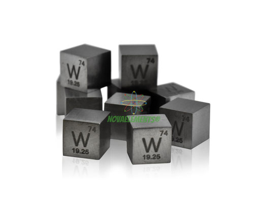 tungsten density cube, tungsten metal cube, tungsten metal, nova elements tungsten, tungsten metal for element collection
