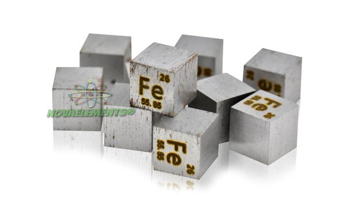 iron density cube, iron metal cube, iron metal, nova elements iron