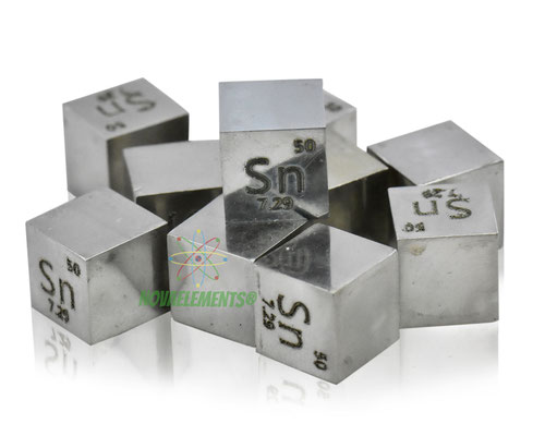 tin density cube, tin metal cube, tin metal, nova elements tin, tin metal for element collection