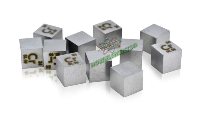 chromium density cube, chromium metal cube, chromium metal, nova elements chromium