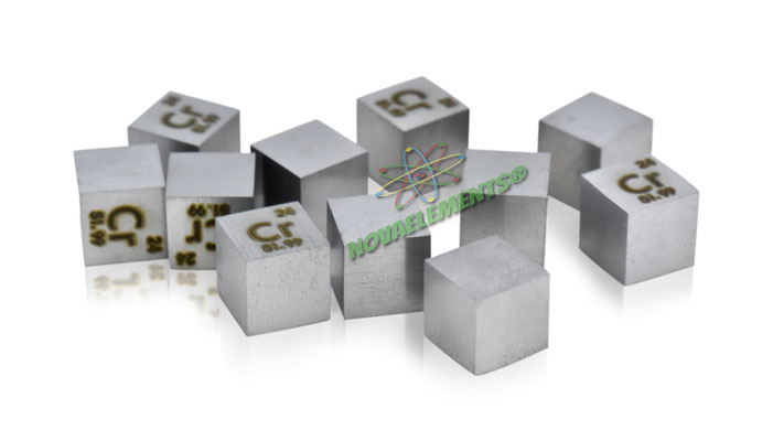 chromium density cube, chromium metal cube, chromium metal, nova elements chromium, chromium metal for element collection