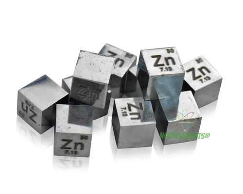 zinc density cube, zinc metal cube, zinc metal, nova elements zinc, zinc metal for element collection