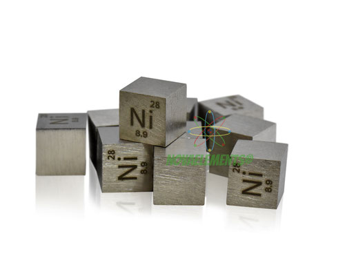 nickel density cube, nickel metal cube, nickel metal, nova elements nickel, nickel metal for element collection