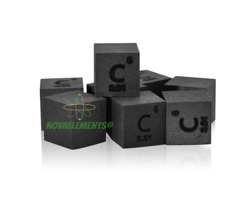 carbon density cube, carbon cube, graphite cube, nova elements carbon, carbon element for collection