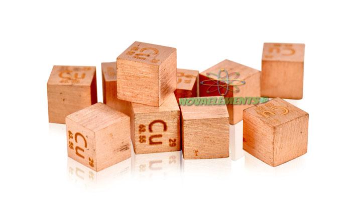 copper density cube, copper metal cube, copper metal, nova elements copper