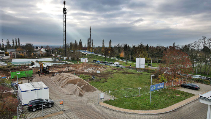 Blick über das Baufeld