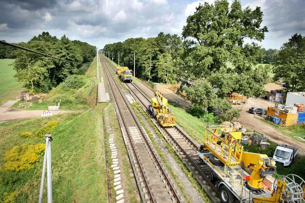 Blick Kamera 2: Bahnstrecke Richtung Hamburg
