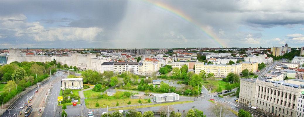 Panoramablick Kamera über Wilhelm-Leuschner-Platz