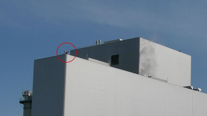 Kamerasysteme 1 / 2 auf dem Dach des Heizkraftwerkes Cottbus
