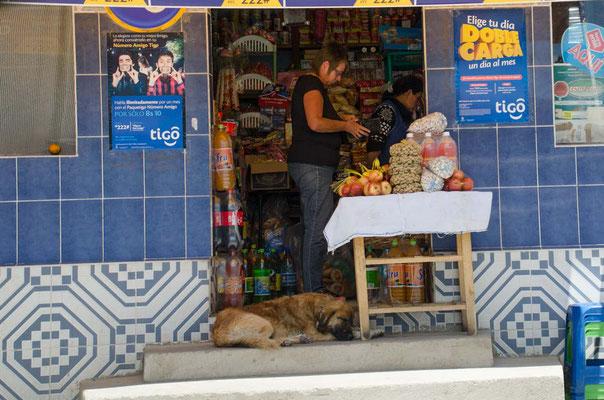 ein kleiner Einkauf in einem der Dörfer entlang der Strecke