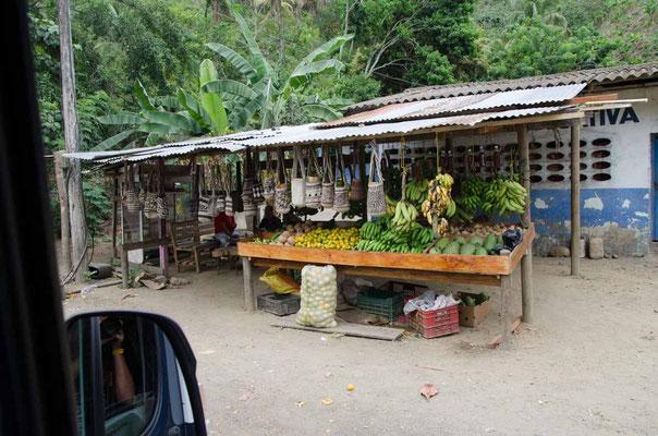 Obst und Gemüse kaufen wir am Straßenrand