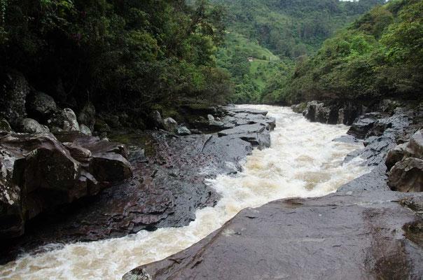 Die engste Stelle des Rio Magdalena