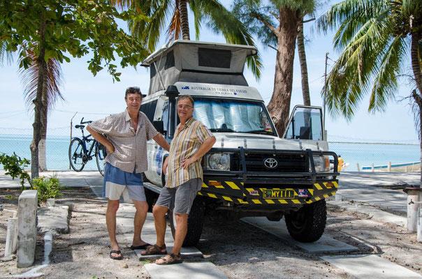 Giles aus Australien mit seinem Toyota