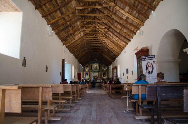 Das Dach ist aus Kakteenholz gefertigt