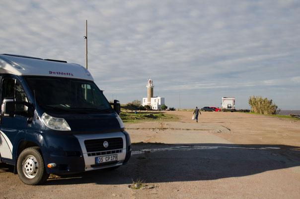 Unsere letzte Nacht verbringen wir am Leuchtturm von Montevideo