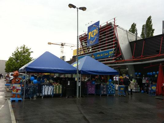 Pavillon zur Warenpräsentation blau II