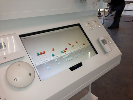 Smart Home Modell Touch Screen Steuerung