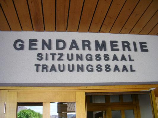 Forexbuchstaben direkt auf Fassade