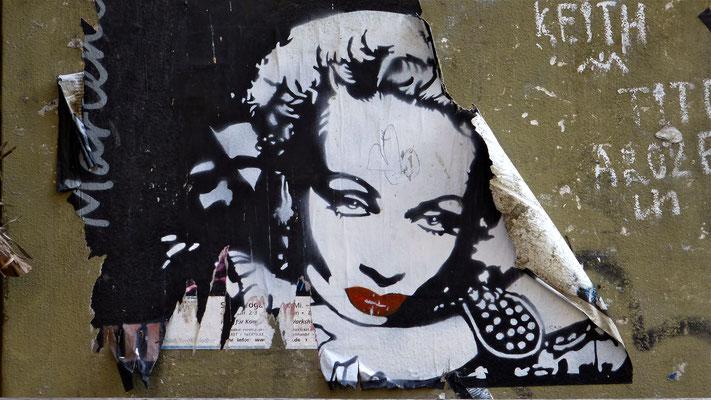 Marlene Dietrich, Graph, Kastanien allee, Prenzlauer Berg Berlin, D,  P1050193