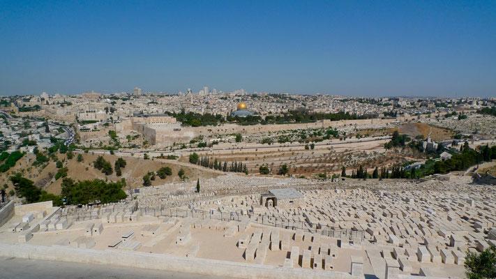 Jérusalem, depuis le mont des Oliviers, Jérusalem, Israël, Il,  P1020473.JPG