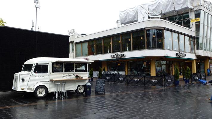 """Café, """"la Camionette"""" Citroen, Helsinki, Finlande, Fin,  P1000650.JPG"""