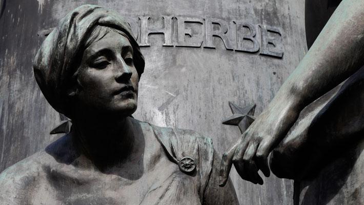 Détail statue de Faidherbe, Lille, Nord, F,