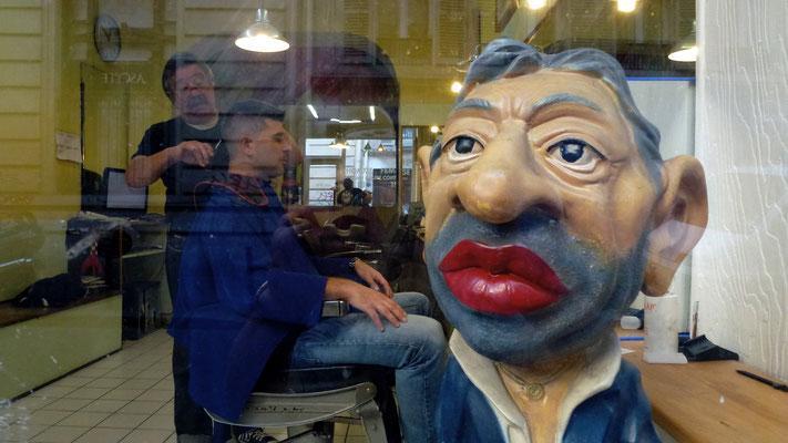 Mannequin, Serge Gainsbourg, Coiffeur, rue de Lancry, Canal Saint Martin, Quai de Valmy, 75010 Paris, F,  P1000526.JPG