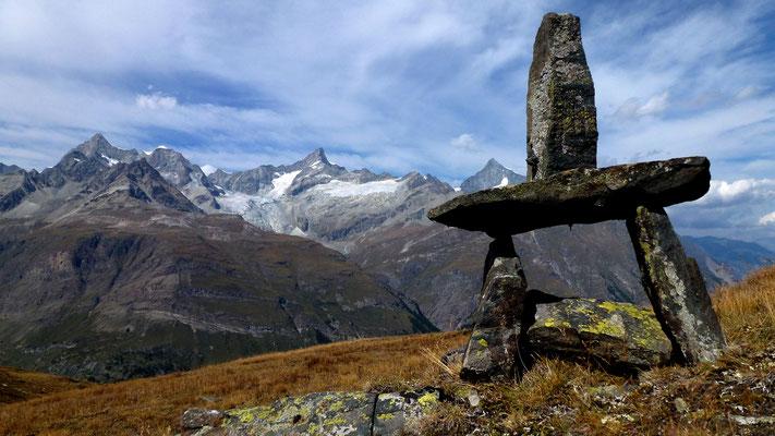 Pile sentinelle An' & Al', depuis Riffelberg,  Zermattt, Suisse, Ch,  P1000447.JPG