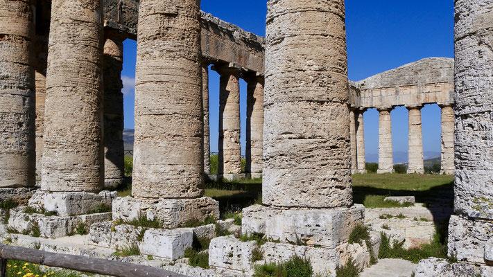 Tampio de Segesta, Temple grec, Segueste, Sicile, Italie, It,
