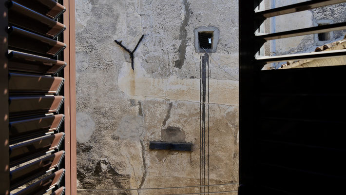 Mur, Palazzo Conte federico, Palerme, Sicile, Italie, It,