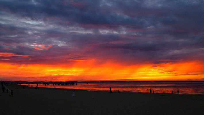 Sunset, Plage, Arcachon, Charente Maritime, F, P1030430