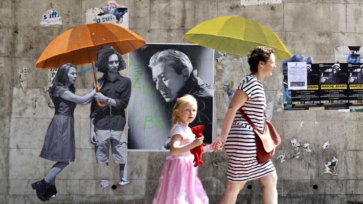 Alain Bashung, Parcours d' Art Urbain avec Studio Harcourt , Stalingrad, Paris, F