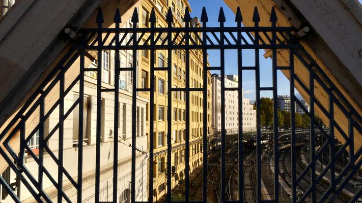 Immeubles SNCF, gare de l 'Est,  depuis le pont Lafayette, 75010 Paris, F,