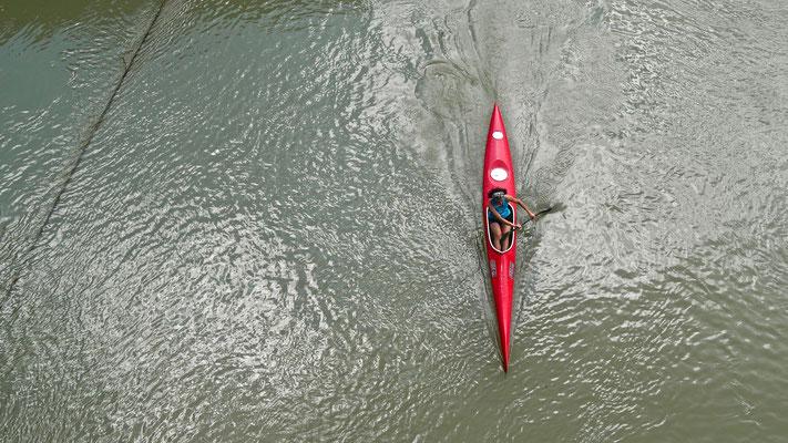 Kayakeuse sur le Tibre,  Rome, Italie, It,