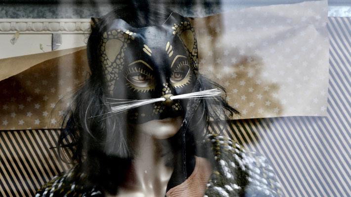 Mannequin Chat, rue Popincourt, 75011 Paris, F,