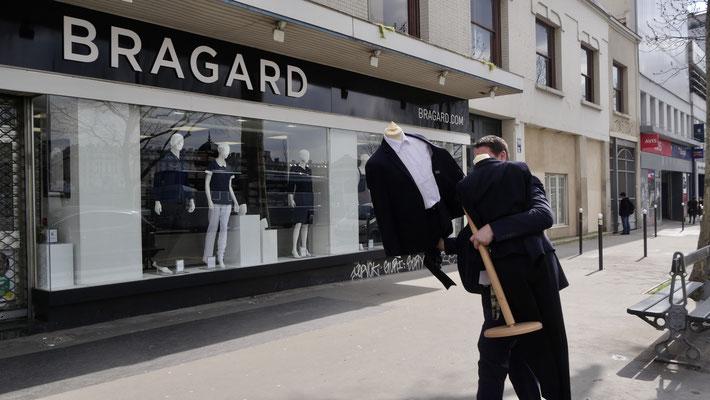 Etalagiste, Mannequin, Ets Bragard, Fbg Saint Martin, 75010 Paris, F,