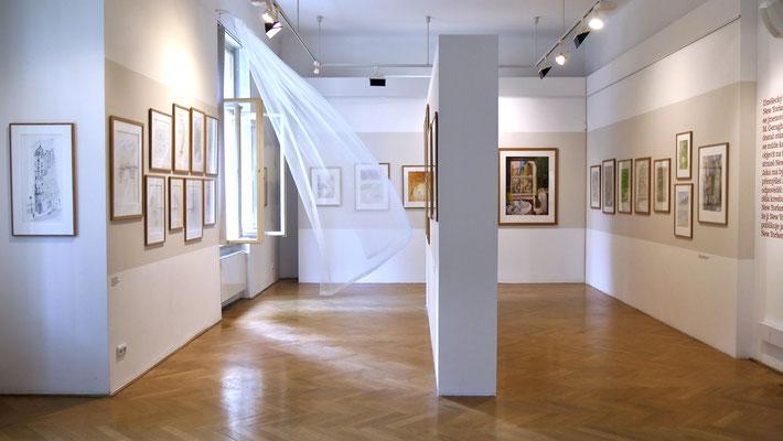Exposition Sempé, Villa Pellé, Prague, Tchéquie, Cz,