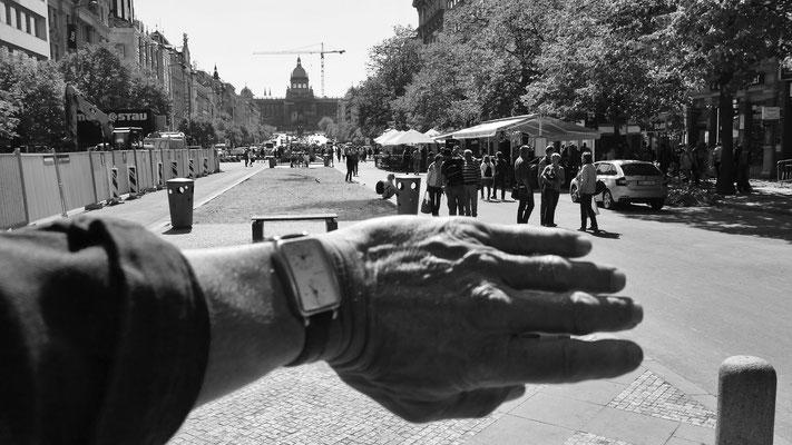 Hommage à Joseph Koudelka, Place Venceslas, Prague, Tchéquie, Cz,