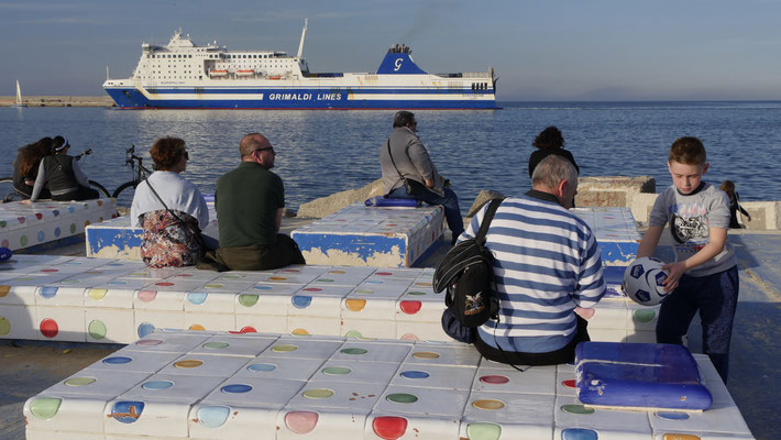 Port de Palerme, Palerme, sicile, Italie, It,