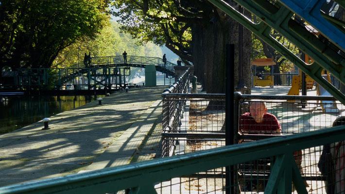 Passerelle, Quai de Valmy, Canal Saint Martin, Paris, F,  P1040781