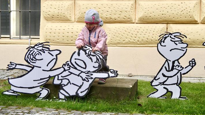 Enfant du Petit Nicolas, Exposition Sempé, Villa Pellé, Prague, Tchéquie, Cz,