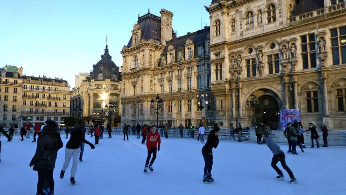 Patinoire, Hotel de ville, paris, F,