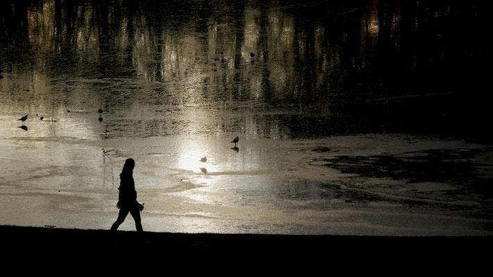 Promeneuse, Grand Canal , Parc de Versailles, 78000 Versailles, F,