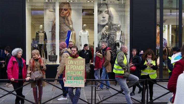 """""""Le pouvoir de vivre ensemble"""", Marche pour le Climat, Paris, F,"""