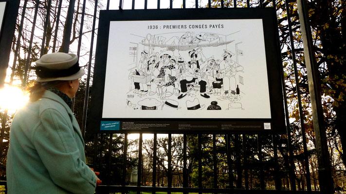 """Dubou, Exposition """"le XXe siècle en 80 dessins de Presse, jardin du Luxembourg, Paris, F,  P1040976"""