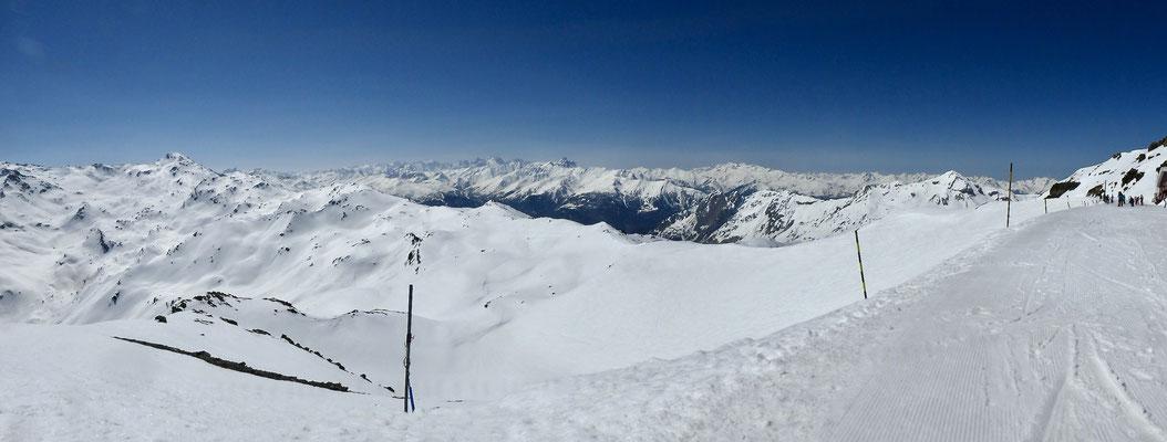 Pano, La Maurienne, depuis la Pointe de la Masse, 2807m, Les Ménuires, Savoie, F,